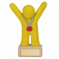 Clay Medal Winner Yellow Yellow 3 7/8 Inch
