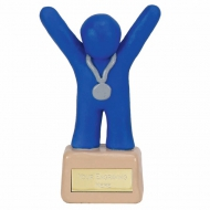 Clay Medal Winner Blue Blue 4 3/8 Inch