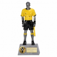Pinnacle8 Assistant Referee Football Trophy AS/Black/Yellow 8.75 Inch