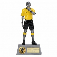 Pinnacle8 Referee AS/Black/Yellow 8.75 Inch Football Trophy