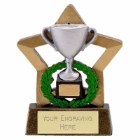 Mini Star Cup Silver Award Trophy AGGT 3.25 Inch