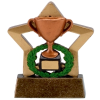 Mini Star Cup Bronze Award Trophy AGGT 3.25 Inch
