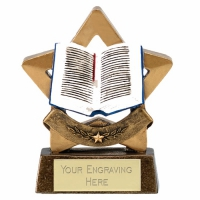 Mini Star Book Award Trophy AGGT 3.25 Inch