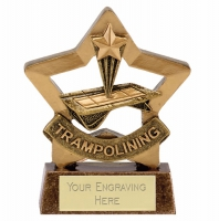 MinI Star Trampolining Award Trophy AGGT 3.25 Inch