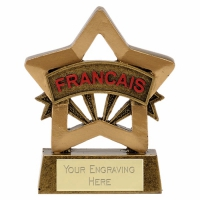 Mini Star French Award Trophy AGGT 3.25 Inch