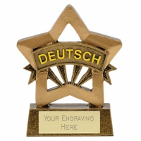 Mini Star German Award Trophy AGGT 3.25 Inch