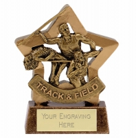 Mini Star Track & Field Award Trophy AGGT 3.25 Inch