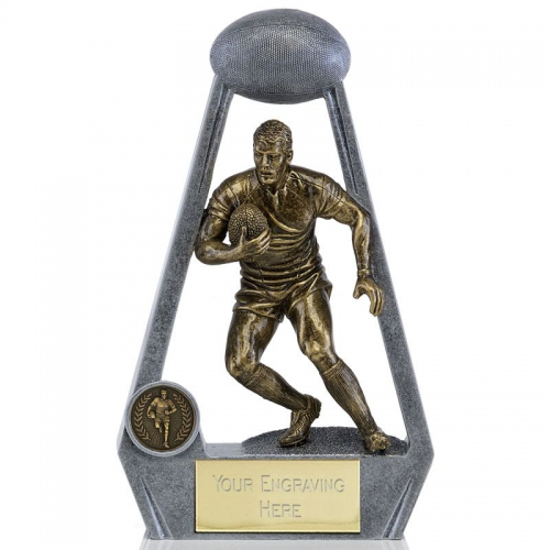 BLING Rugby Player AG/AS 4 7/8 Inch