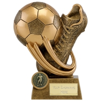 EPIC Football Trophy Boot & Ball AGGT 4.5 Inch