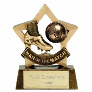 MINI STAR Man of the Match Football Trophy AGGT 3.25 Inch