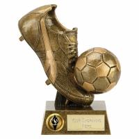 PRESENTATION Football Trophy Boot & Ball