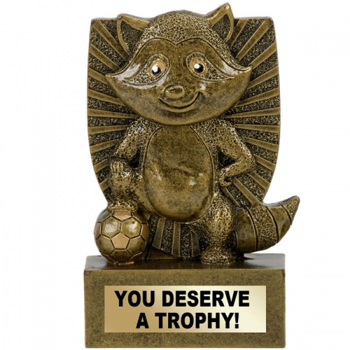 RONNIE RACOON Football Trophy Award - AGGT - 4 3/8 (11cm) - New 2018