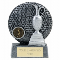 VISTA Golf Trophy Award - Ant Silver/Silver - 5 inch (12.5cm) - New 2018