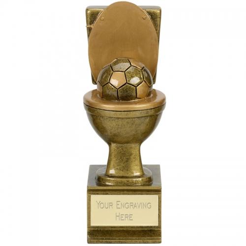 GOLDEN FLUSH Football Trophy Award - AGGT - 6 (15cm) - New 2018