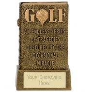 Miracle Book of Golf Trophy Award - AGGT - 4.75 (12cm) - New 2018