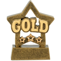 MINI STAR Gold - AGGT - 3 1/8 inch (8cm) - New 2018
