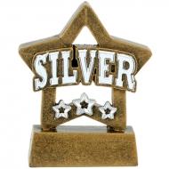 Mini Star Silver Award Trophy AGST - 3 1/8 inch (8cm) - New 2018