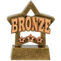 Mini Star Bronze Award Trophy - AGBT - 3 1/8 inch (8cm) - New 2018