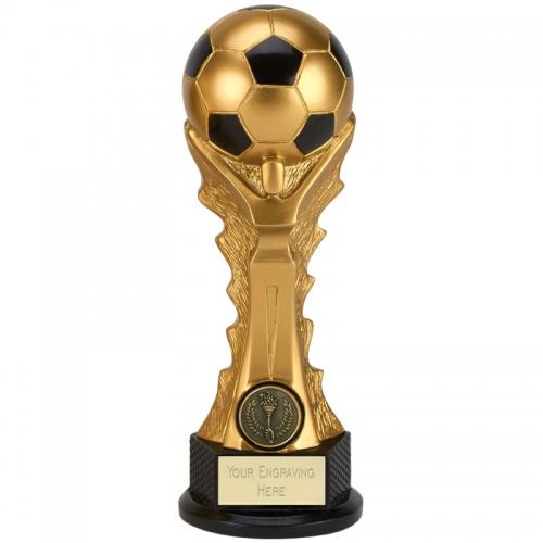 GOLDEN Celebration Football Trophy Award - Gold/Black - 8 inch (20cm) - New 2018