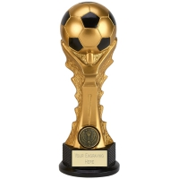 GOLDEN Celebration Football Trophy Award - Gold/Black - 9 (23cm) - New 2018