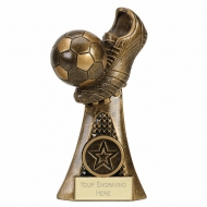 VICTOR Boot & Ball Football Trophy - AGGT - 6 (15cm) - New 2018