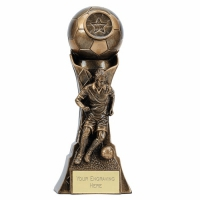 Genesis Male Footballer 7 Trophy Inch (17.5cm) : New 2019