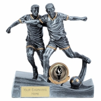 Duo Football Trophy Silver 5.75 Inch (14.5cm) : New 2019