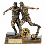 Duo Football Trophy Gold 5.75 Inch (14.5cm) : New 2019
