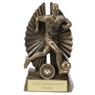 Pulse Male Footballer Trophy 7 Inch (17.5cm) : New 2019