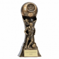 Genesis Female Footballer Trophy 7 Inch (17.5cm) : New 2019