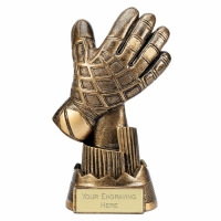 Goalie Glove 6.75 Inch (17cm) Football Trophy : New 2019