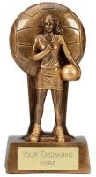 Soul Netball Trophy Award 7.25 Inch (18.5cm) : New 2020