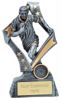 Flag Rugby Trophy Award 7.5 Inch (19cm) : New 2020