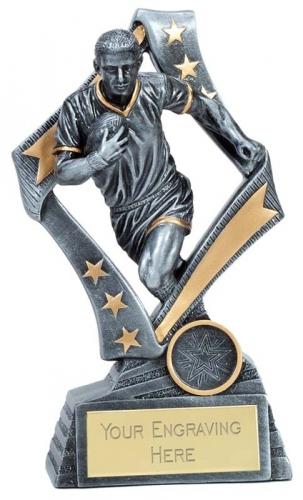Flag Rugby Trophy Award 7.5 Inch (19cm) : New 2020