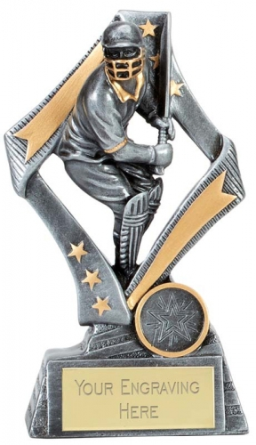 Flag Cricket Trophy Award Batsman 6.75 Inch (17cm) : New 2020