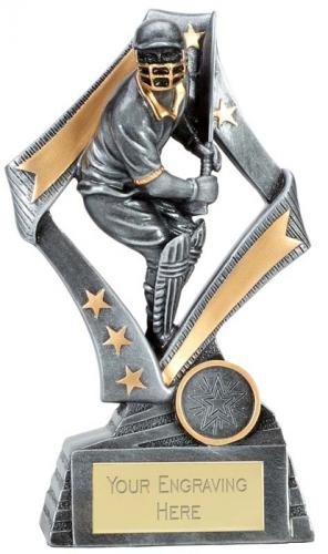 Flag Cricket Trophy Award Batsman 7.5 Inch (19cm) : New 2020
