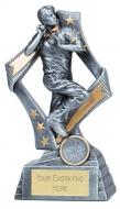 Flag Cricket Trophy Award Bowler 7.5 Inch (19cm) : New 2020