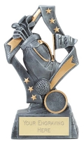 Flag Golf Trophy Award 7.5 Inch (19cm) : New 2020