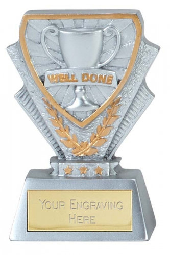 Well Done Trophy Award Mini Presentation Cup Trophy Award 3.3/8 Inch (8.5cm) : New 2020