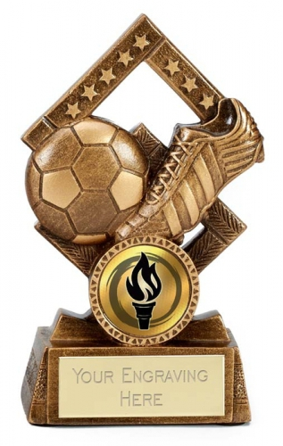Cube Football Trophy Award 4.5 Inch (11.5cm) : New 2020