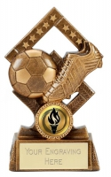 Cube Football Trophy Award 5.25 Inch (13.5cm) : New 2020