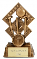 Cube Cricket Trophy Award 5.25 Inch (13.5cm) : New 2020