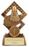 Cube Badminton Trophy Award 4.5 Inch (11.5cm) : New 2020
