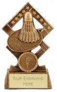 Cube Badminton Trophy Award 5.25 Inch (13.5cm) : New 2020