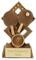 Cube Table Tennis Trophy Award 5.25 Inch (13.5cm) : New 2020