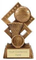 Cube Netball Trophy Award 4.5 Inch (11.5cm) : New 2020