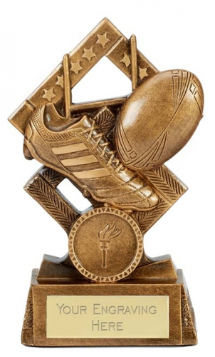 Cube Rugby Trophy Award 5.25 Inch (13.5cm) : New 2020
