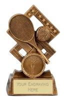 Cube Tennis Trophy Award 4.5 Inch (11.5cm) : New 2020