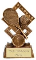 Cube Tennis Trophy Award 5.25 Inch (13.5cm) : New 2020