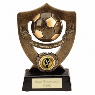 Celebration Shield7 Most Improved Football Trophy AGGT 7 Inch